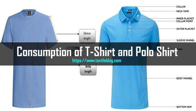 consumption of t-shirt and polo shirt