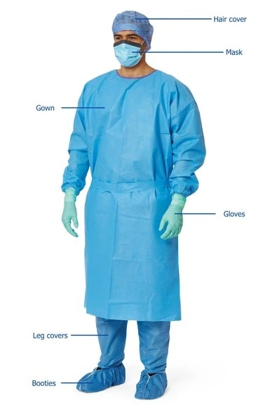 complete personal protective equipment for heath worker