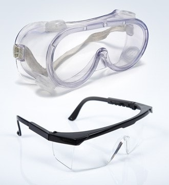 goggles and glasses