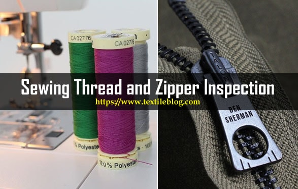 sewing thread and zipper