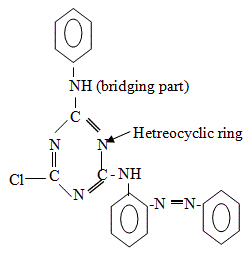Chemical structure of reactive dyes