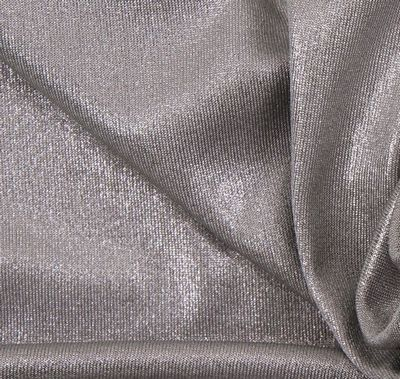 Silver knit fabric