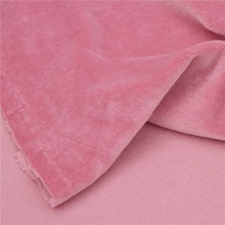 Velour knitted fabric