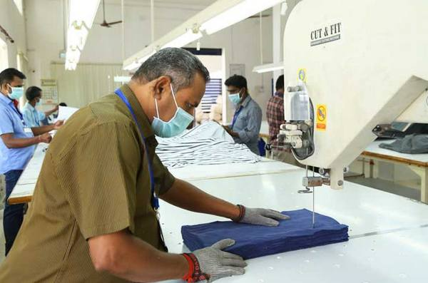 garment cutting section