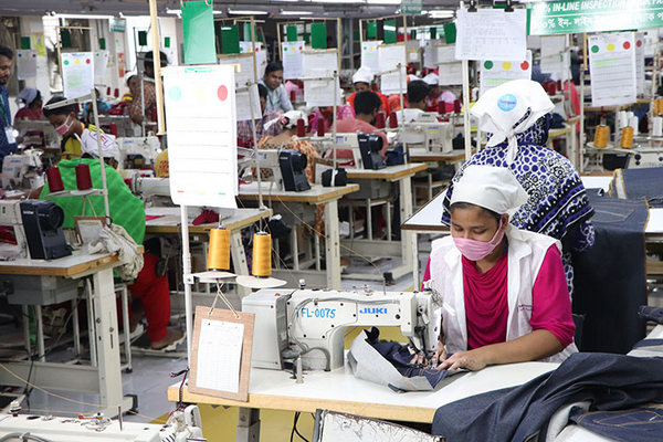 garment sewing section