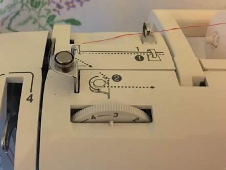 Threading the machine using numbered markings