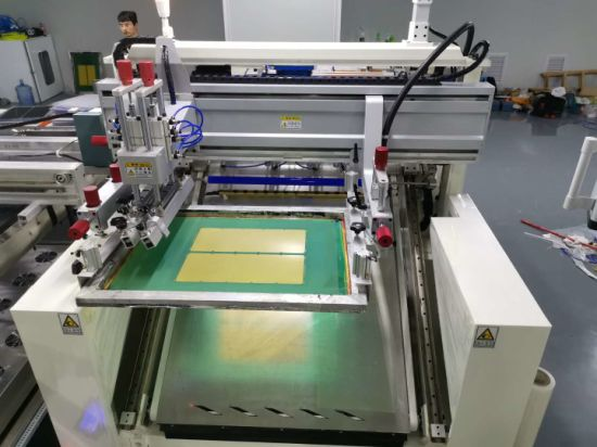 Fully automated flat-bed screen-printing machine