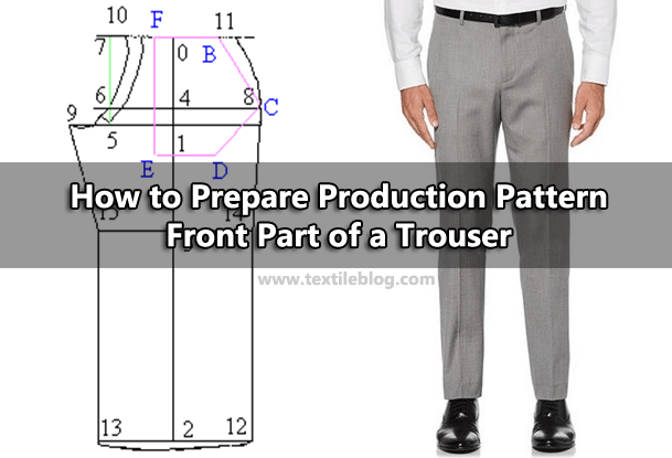 production pattern of trouser