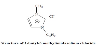 chemical structure of 1-butyl-3 methylimidazolium chloride